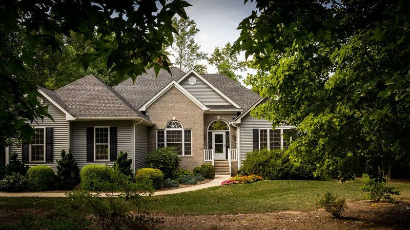 home surrounded by trees, selecting trees to plant