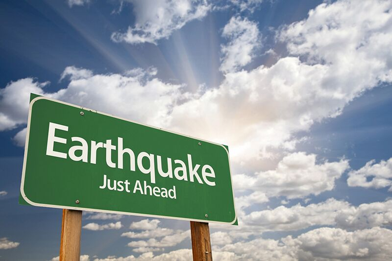 earthquake warning sign, flood and earthquake insurance for your home